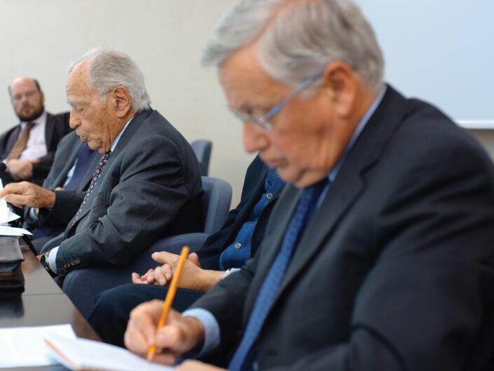 """Rick Peters, Antonio Maccanico e Adriano Giannola al convegno """"Liberalismo, democrazia e socialismo dall'Unità d'Italia alla Carta costituzionale"""", Avellino, 14-15 ottobre 2010."""