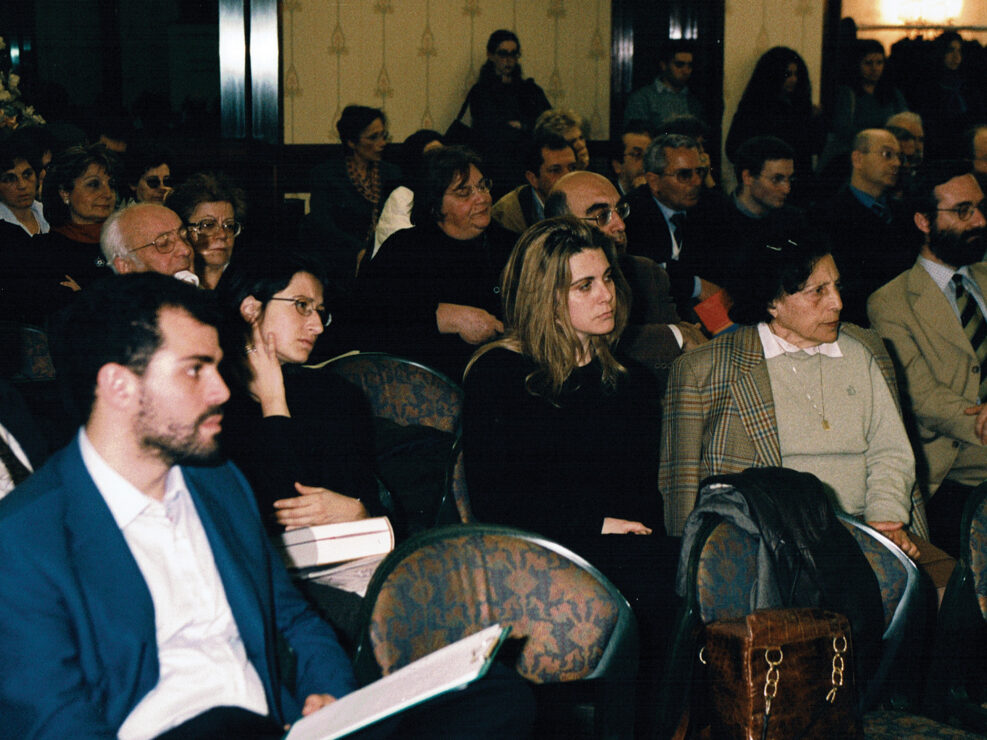 """Il pubblico in sala al convegno """"Nelle province dell'impero"""", Avellino 10-13 aprile 2002."""
