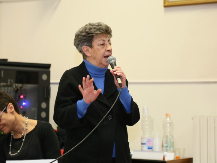 """Elisa Dorso al convegno """"La scuola irpina nel contesto generale. Analisi e discussione"""", Avellino 16 febbraio 2018."""