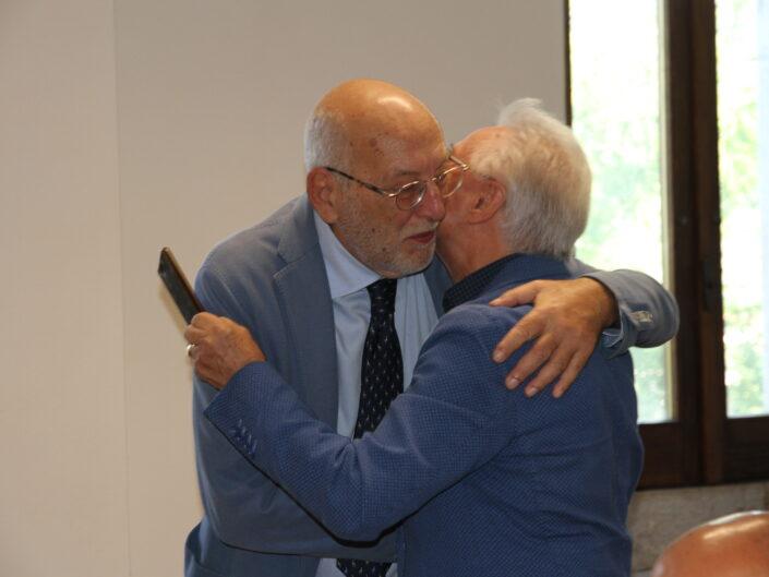 """Nunzio Cignarella ed Edgardo Pesiri alla prima edizione della Summer School """"Globalizzazione e sviluppo sostenibile"""", Castello di Gesualdo 6-7 settembre 2019."""